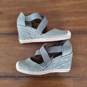 White Mountain Shoes - White mountain grey espadrille wedge heel